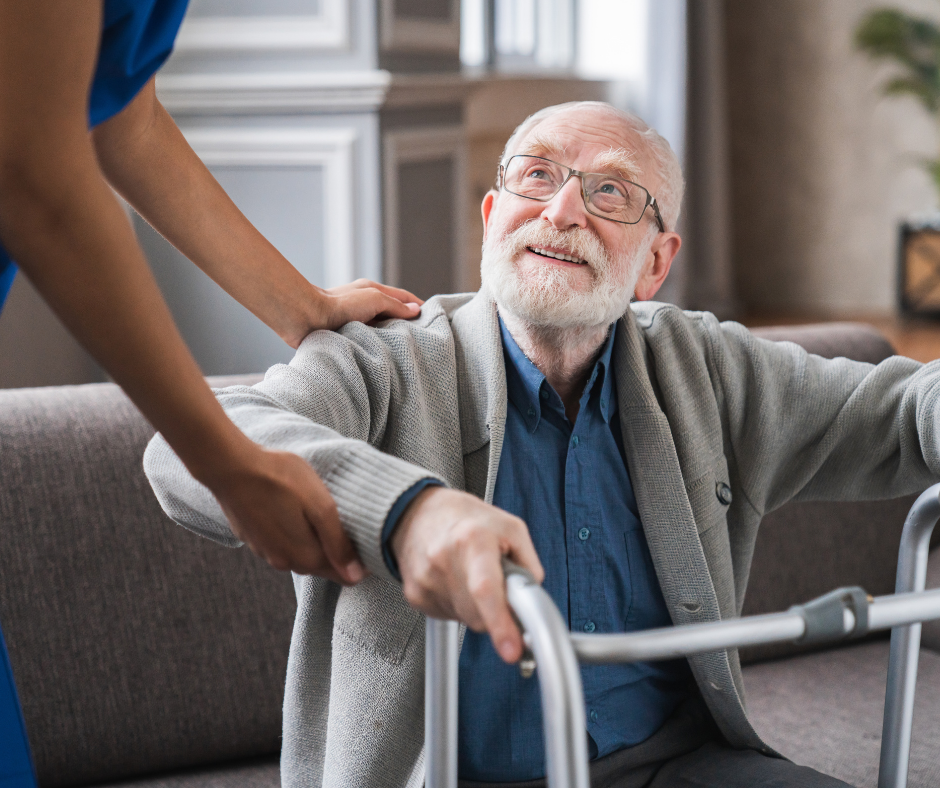 patient receiving home health care services